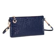 Lookatool Women's Crocodile Leather Messenger Crossbody Clutch Shoulder Handbag