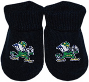University of Notre Dame Fight Irish Leprechaun NCAA Licenced Solid Coloured Newborn Baby Bootie Sock