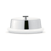 Broggi Zeta Butter dish Polished Steel