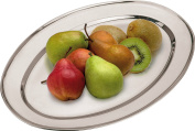 Oval Serving Platters Trays Stainless Steel Dish Large Party Platter
