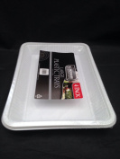 4 x white plastic disposible tray /platter - 29.5cm x 21.5 cm and depth 3 cmfor serving shering and snack