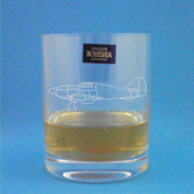 Bohemia Crystal Whisky Glass With Hawker Hurricane Design