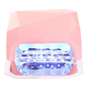 MAKARTT 36W LED UV Nail Dryer Nail Lamp for Both LED and UV Gel with Automatic Sensor Three Timer Settings Imbedded Sliding Tray Diamond Shape
