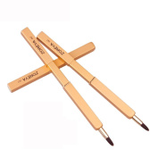 Voberry Fashion Portable Automatic Retractable Lip Brush With Lid Eyeliner Brush