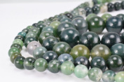 Natural Green Moss Agate Gemstone Beads Gemstone Round Beads 6mm,8mm,10mm,12mm Natural Stones Beads Healing chakra stones for Jewellery Making