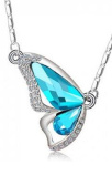 Butterfly Rhinestone Crystal Necklace Pendant - Various Colours by Mammoth Sales