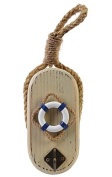 23cm Nautical Wooden Ring Life Buoy Wall Hanging Hook Holder Key, Coat, Towel, Hanger, Hat