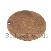6 Big 3.3cm Antiqued Flat Round Blank Engravable Stamping Coin Charm Pendants