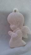 7.6cm Praying Boy Ornament ready to paint ceramic bisque