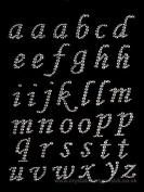 CraftbuddyUS 37 Stick on AB CLEAR Letters Self Adhesive Crystal Gems Alphabet abc Craft