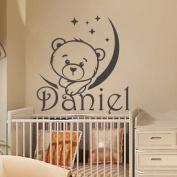 Personalised Name Wall Decal Boy Sticker Kids Nursery Vinyl Decal Home Decor Living Children's Baby Room Nursery MC12