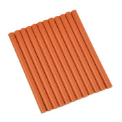 GlueSticksDirect Burnt Orange Coloured Glue Sticks mini X 10cm 12 Sticks