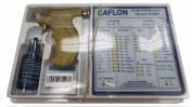 Caflon Ear Piercing Gun Kit with 4mm Gold Plated Ball Earring Studs 12 Pair