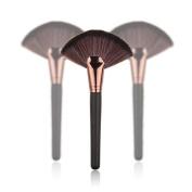 Lookatool Makeup Large Fan Goat Hair Blush Face Powder Foundation Cosmetic Brush