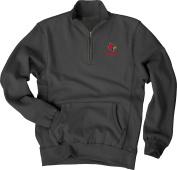 NCAA Men's Sanded Fleece Zip Cadet Sweatshirt