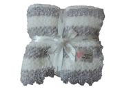 Applesauce Grey Stripe Baby Blanket