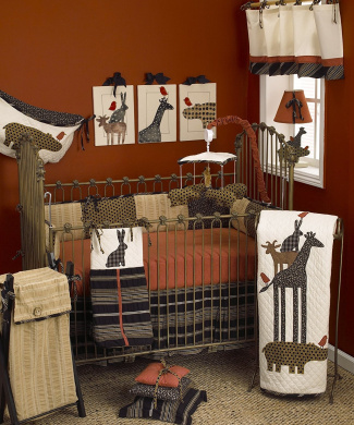 Cotton Tale Designs Animal Stacker 7 Piece Nursery Pack, Red