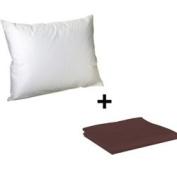 Litaf Toddler Pillow with Pillowcase, Brown