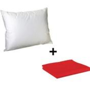 Litaf Toddler Pillow with Pillowcase, Red