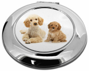Poodle and Cockerpoo Make-Up Round Compact Mirror Christmas Gift