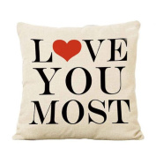 OverDose Home Decoration Love You Pillow Case Cushion Cover