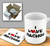 I Love Food Mug and Coaster - Nachos