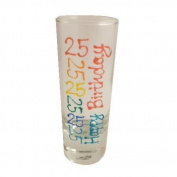 25th Birthday Gift Tall Shot Glass