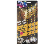 Team Twists Sports Yellow and Black 3 pack