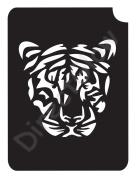 Tiger 1005 Body Art Glitter Makeup Tattoo Stencil- 5 Pack