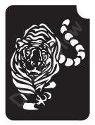Tiger 1003 Body Art Glitter Makeup Tattoo Stencil- 5 Pack