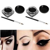 KESEE 2 PCS Mini Eyeliner Gel Cream With Brush