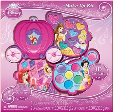 Princess Makeup Kit Gift Set in Slide Out Case
