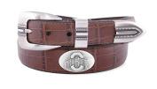NCAA Ohio State Buckeyes Crocodile Tip Leather Concho Belt