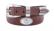 NCAA Georgia Bulldogs Crocodile Tip Leather Concho Belt