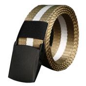 LUFA Men's Belt No metal Plastic buckle canvas outdoor belts casual jeans belt