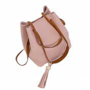 Elaco Women Leather Handbag Shoulder Bucket Tole Bag+Clutch Bag