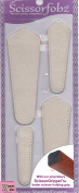 Scissors sheaths by SCISSORFOBZ with ScissorGripper -VALUE PACK-4 sizes- Designer Scissor Covers Holders for embroidery sewing quilting - Quilters sewers gift - Top Grain Antique Ivory. S-38