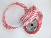 Celebrate IT- Ribbon Lattice wired ribbon with lace (red) 3.8cm x 5.5m
