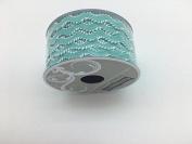 Celebrate IT- Ribbon -Waved Ribbon (blue and white) 1.2cm x 2.7m