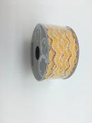 Celebrate IT- Ribbon -Waved Ribbon (yellow and white) 1.2cm x 2.7m