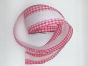 Celebrate IT- Ribbon Lattice with white trims tape (Cherry) - ribbon 6.4cm x 7.6m