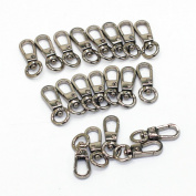 M-W 20PCS Swivel Trigger Lobster Claw Clasps Handbag Chain Buckles Bag Belting Pets Dog Chain Connector