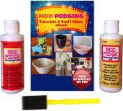 Mod Podge Kit with Matte (120ml), Gloss (120ml) & Brush + Free Downloadable eBook