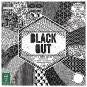 Premium Craft Cardstock First Edition Black Out 8x8 Scrapbook Papers
