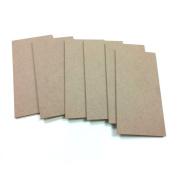 MDF Wood Craft Plaque Sign 13cm x 25cm , 6-pack