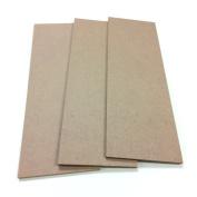 MDF Wood Craft Plaque Sign 13cm x 38cm , 3-pack