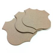 Shield Rt 66 Shape MDF Wood Craft Plaque Sign 25cm , 3-pack