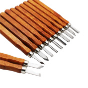 Tonshen 12 Piece Set Wood Carving Tools SK5 Carbon Steel Kit