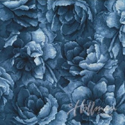 Hoffman 'Belleflower' Hydrangea-Coloured Tonal Blooms Cotton Fabric