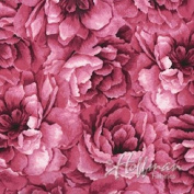 Hoffman 'Belleflower' Sweetpea-Coloured Tonal Blooms Cotton Fabric